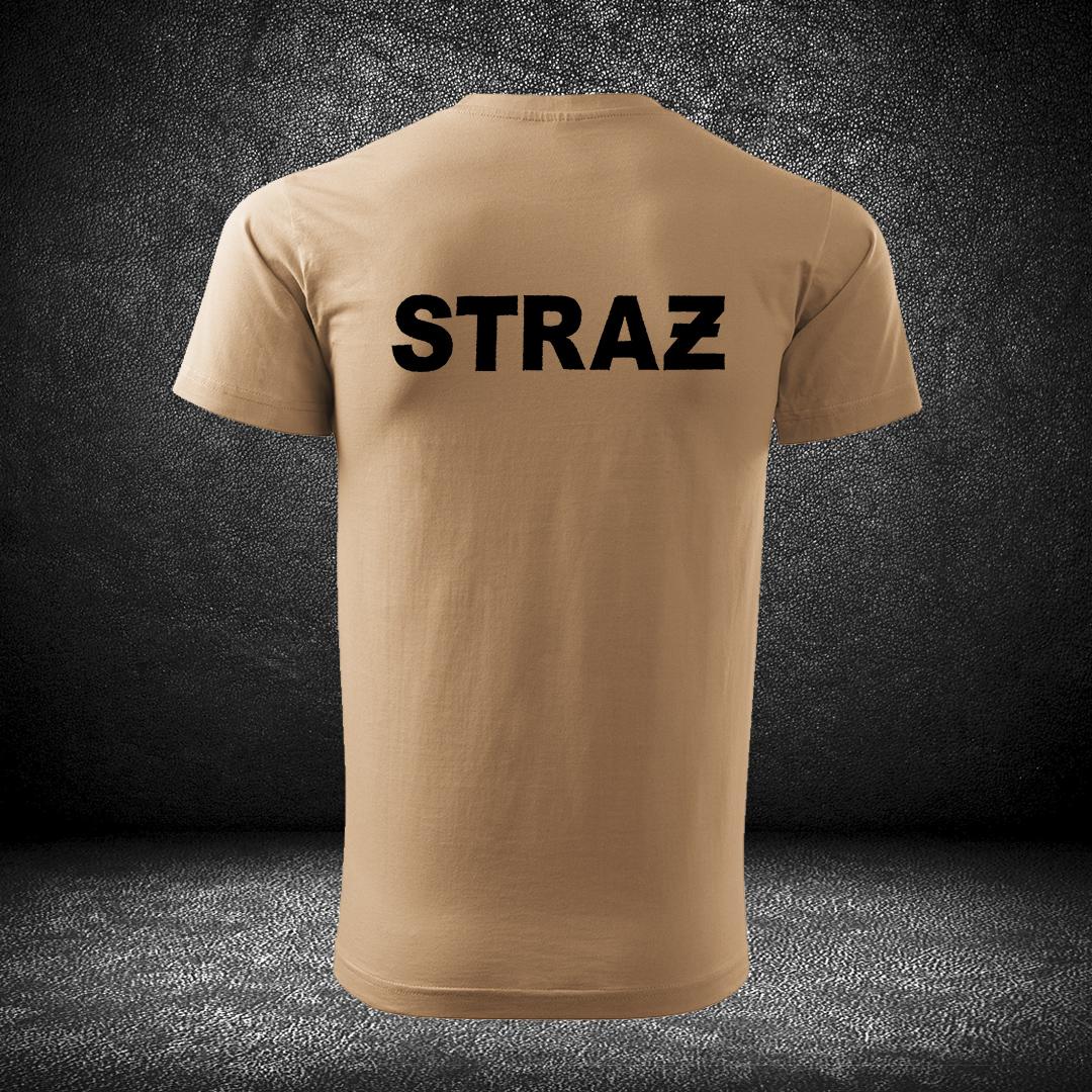 t-shirt piaskowy straż OSP