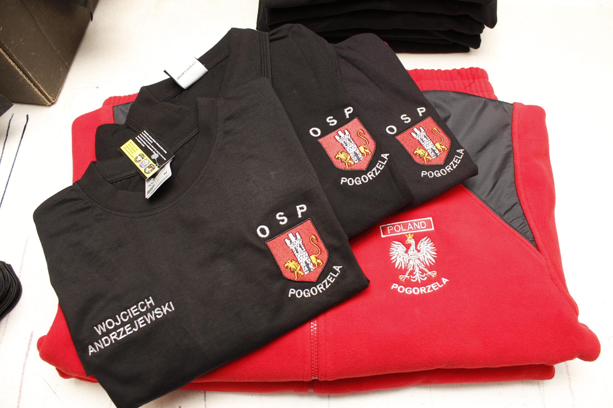 koszulki strażackie z haftowanym logo